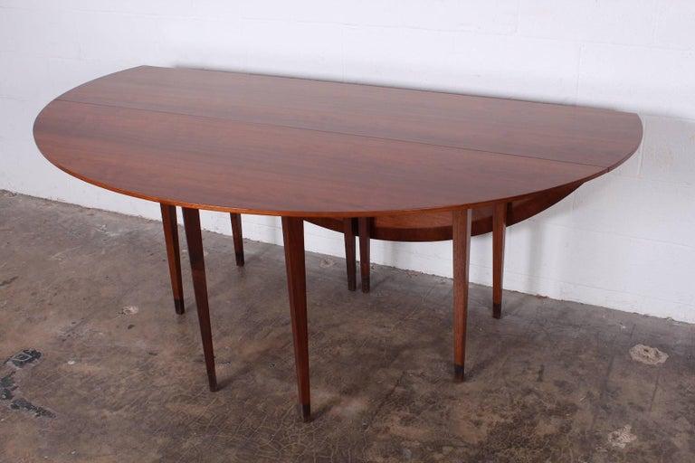 Walnut Drop-Leaf Console Table by Edward Wormley for Dunbar 7