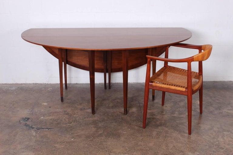 Walnut Drop-Leaf Console Table by Edward Wormley for Dunbar 8