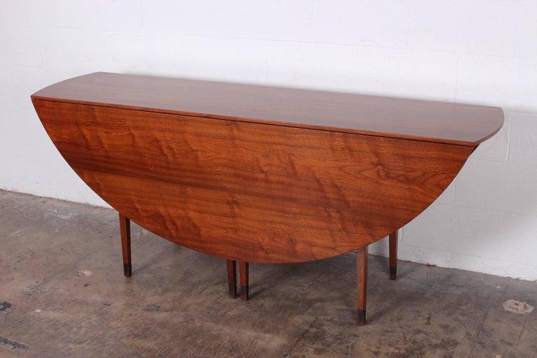Walnut Drop-Leaf Console Table by Edward Wormley for Dunbar 10