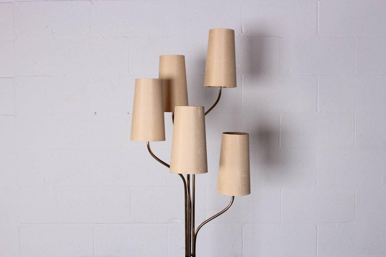 Italian Floor Lamp with Cascading Shades 3