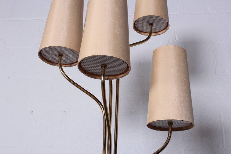 Italian Floor Lamp with Cascading Shades 7