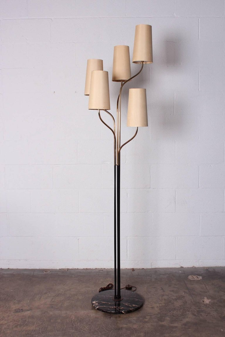 Italian Floor Lamp with Cascading Shades 8