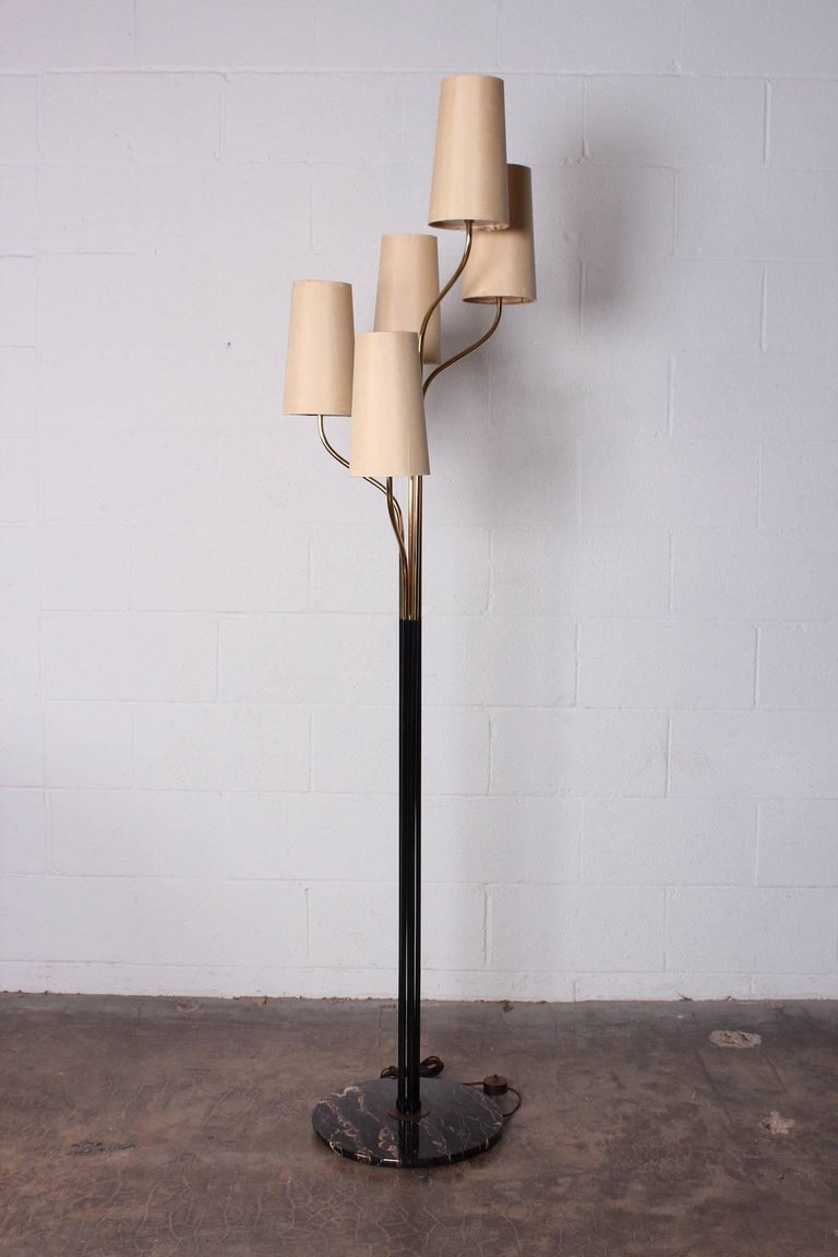 Italian Floor Lamp with Cascading Shades 9