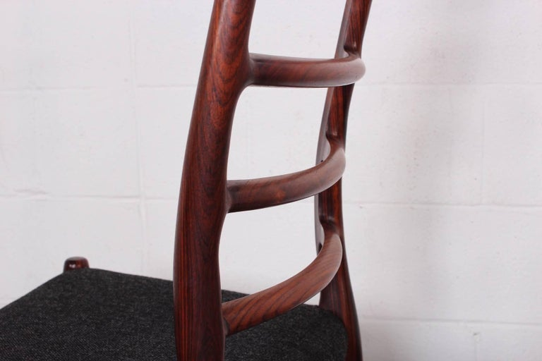Set of Eight Rosewood Model 82 Dining Chairs by Niels Møller 5
