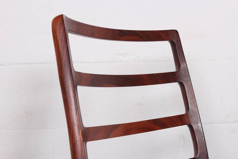 Set of Eight Rosewood Model 82 Dining Chairs by Niels Møller 6