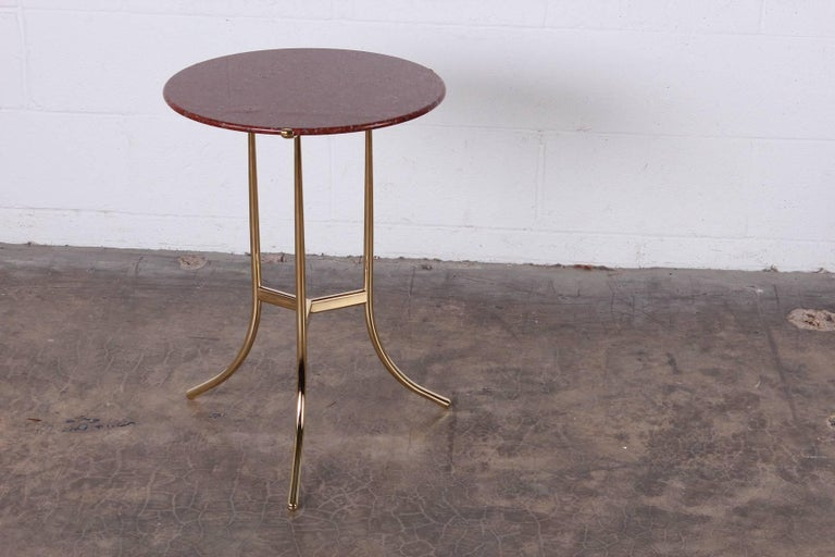 Cedric Hartman Table in Polished Brass and Rosso Granite For Sale 6