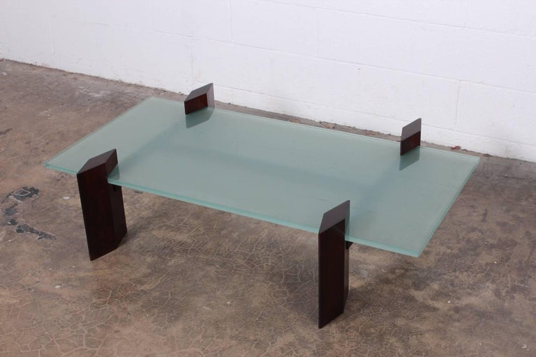 Carlo Hauner Roswood Coffee Table In Excellent Condition For Sale In Dallas, TX