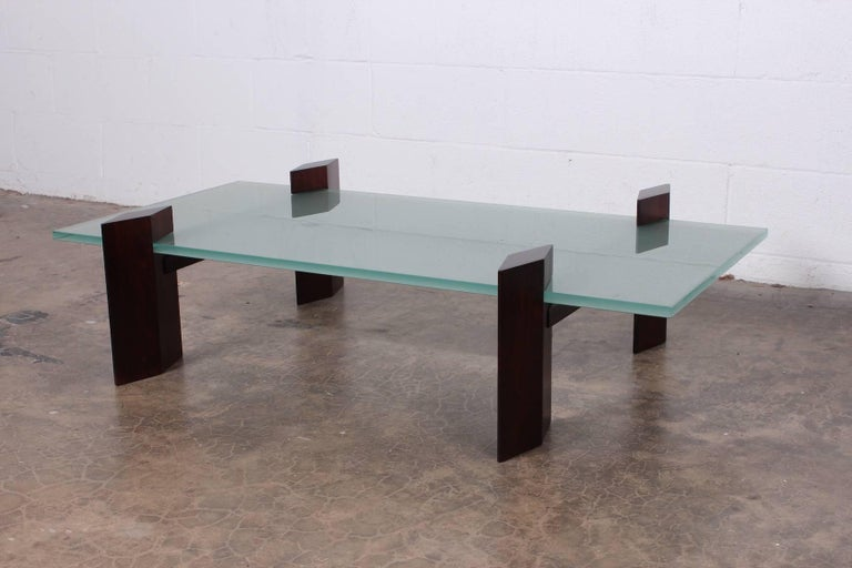 Mid-20th Century Carlo Hauner Roswood Coffee Table For Sale