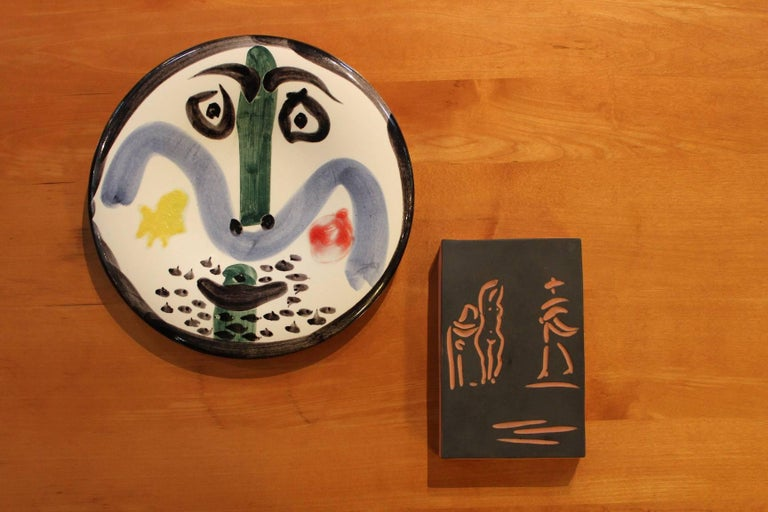 Pablo Picasso Face no. 130 plate Spain, 1963 glazed earthenware with engobe decoration and enamel Glazed signature and number to underside 'No. 130 Edition Picasso 274/500 Madoura'. This work is number 41 from the edition of 500 published by