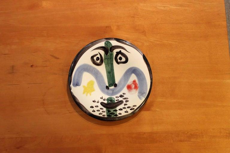 Pablo Picasso Face No. 130, Madoura, 1963 For Sale 3