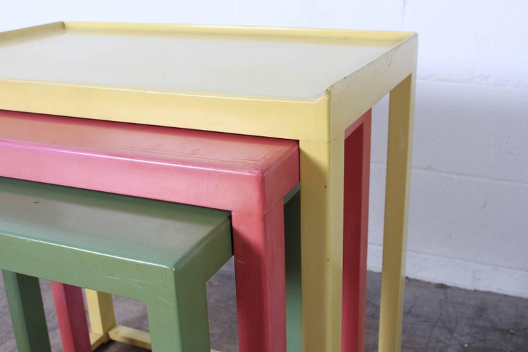 Nesting Tables by Edward Wormley for Dunbar For Sale 1
