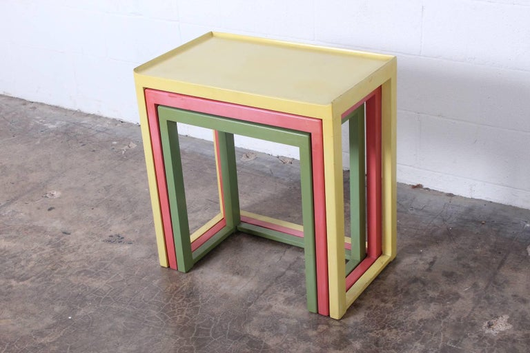 Mid-20th Century Nesting Tables by Edward Wormley for Dunbar For Sale