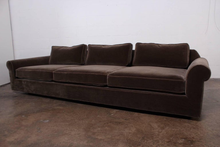 "Mid-20th Century ""Big Texan"" Sofa by Edward Wormley for Dunbar in Mohair For Sale"