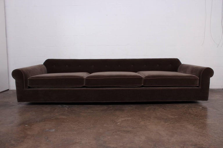 """Big Texan"" Sofa by Edward Wormley for Dunbar in Mohair For Sale 2"