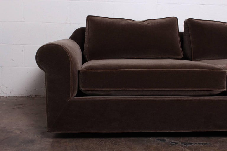 """Big Texan"" Sofa by Edward Wormley for Dunbar in Mohair For Sale 1"
