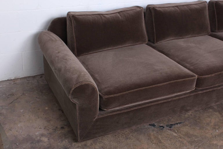 """Big Texan"" Sofa by Edward Wormley for Dunbar in Mohair For Sale 4"