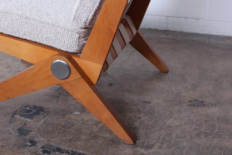 Pair of Knoll Scissor Chairs by Pierre Jeanneret For Sale 3
