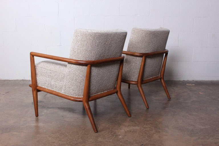 Pair of Lounge Chairs by T.H. Robsjohn-Gibbings For Sale 5