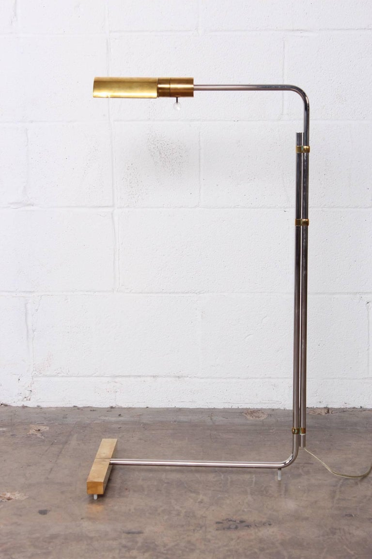 Early Brass and Chrome Floor Lamp by Cedric Hartman 3