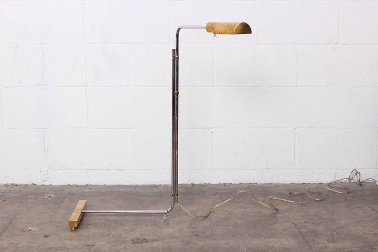 Early Brass and Chrome Floor Lamp by Cedric Hartman 7