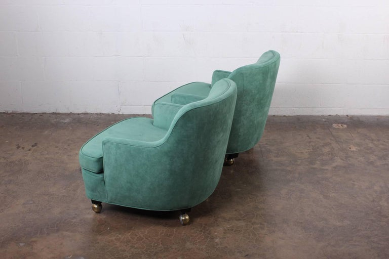 Pair of Dunbar Lounge Chairs by Edward Wormley For Sale 5