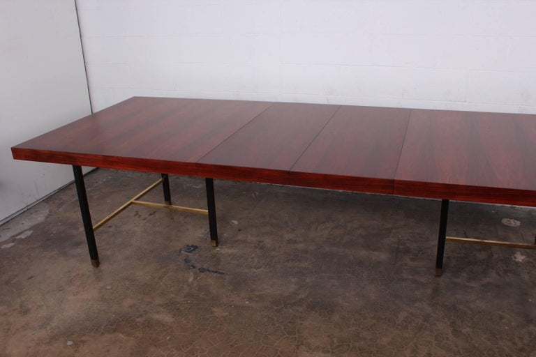 Rosewood Dining Table by Harvey Probber In Good Condition For Sale In Dallas, TX