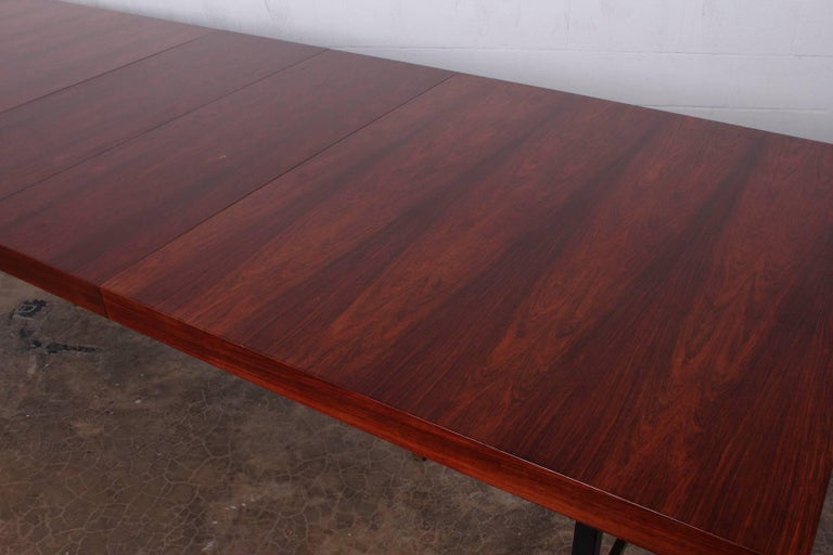 Rosewood Dining Table by Harvey Probber For Sale 4