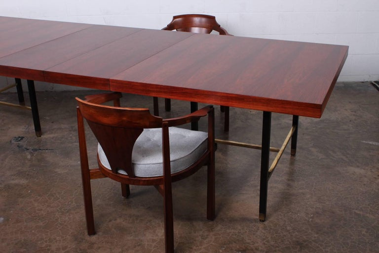 Rosewood Dining Table by Harvey Probber For Sale 5