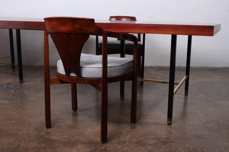 Rosewood Dining Table by Harvey Probber For Sale 6