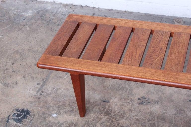 Mid-20th Century Hans Wegner Slatted Bench for Johannes Hansen For Sale
