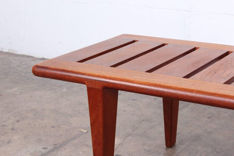 Hans Wegner Slatted Bench for Johannes Hansen For Sale 1