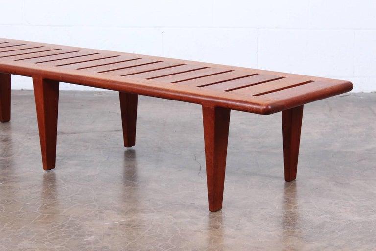 Hans Wegner Slatted Bench for Johannes Hansen For Sale 3