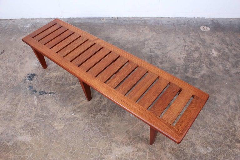 Hans Wegner Slatted Bench for Johannes Hansen For Sale 5