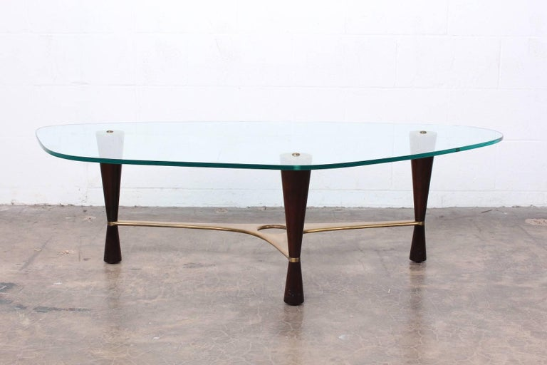 Model 5309 Coffee Table by Edward Wormley for Dunbar In Good Condition For Sale In Dallas, TX