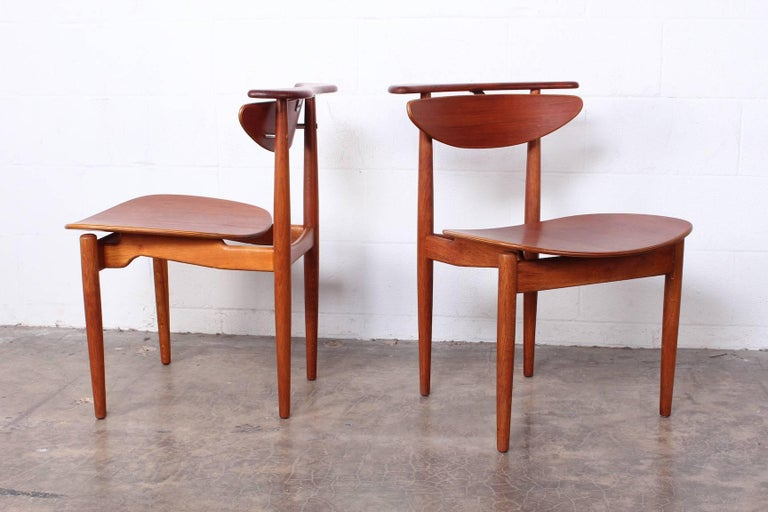 Rare Set of Four Chairs by Finn Juhl For Sale 2