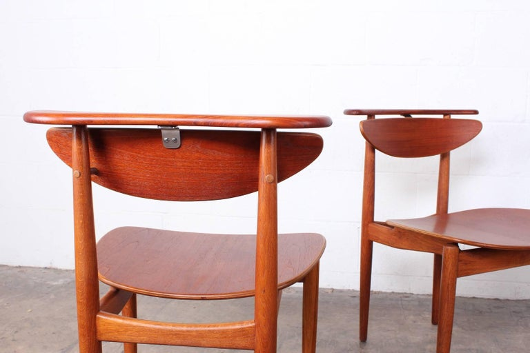 Rare Set of Four Chairs by Finn Juhl For Sale 5