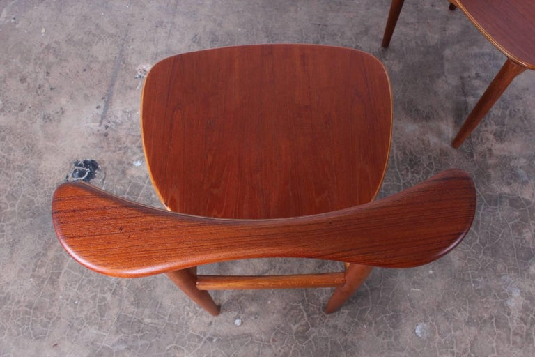 Rare Set of Four Chairs by Finn Juhl For Sale 4