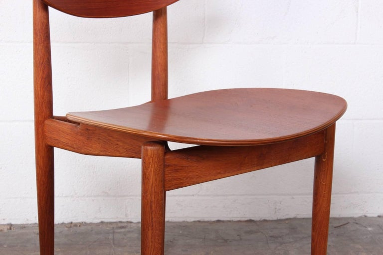 Rare Set of Four Chairs by Finn Juhl For Sale 6
