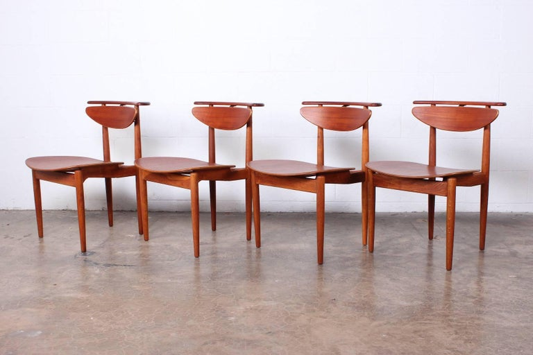 Mid-20th Century Rare Set of Four Chairs by Finn Juhl For Sale