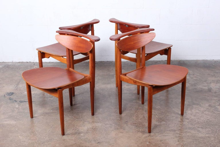 Rare Set of Four Chairs by Finn Juhl For Sale 1