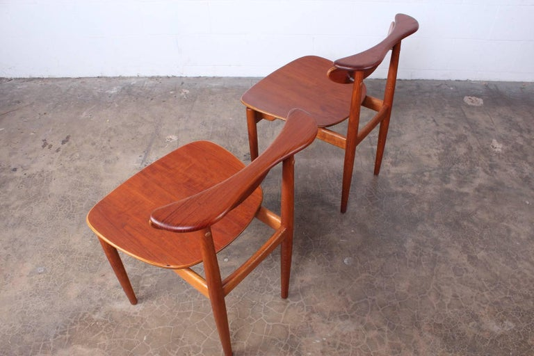 Rare Set of Four Chairs by Finn Juhl For Sale 8