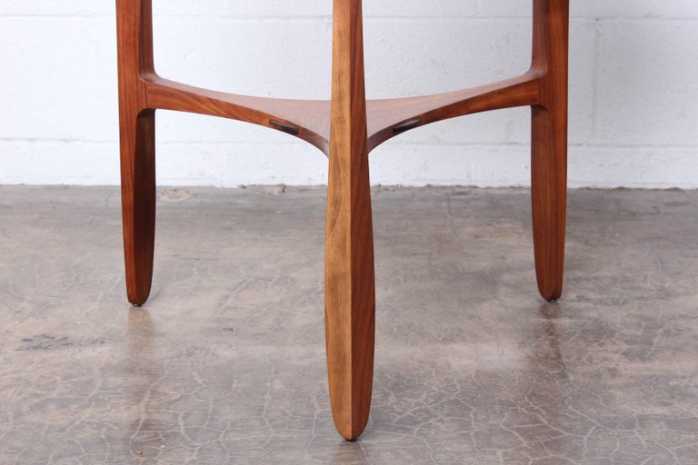 Mid-20th Century Dunbar Janus Table by Edward Wormley with Natzler Tiles For Sale