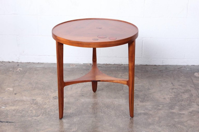 Dunbar Janus Table by Edward Wormley with Natzler Tiles For Sale 8
