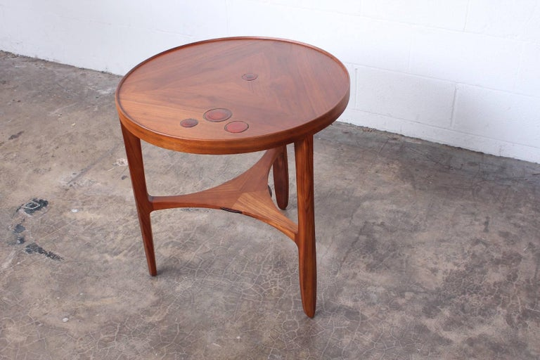 Dunbar Janus Table by Edward Wormley with Natzler Tiles For Sale 9