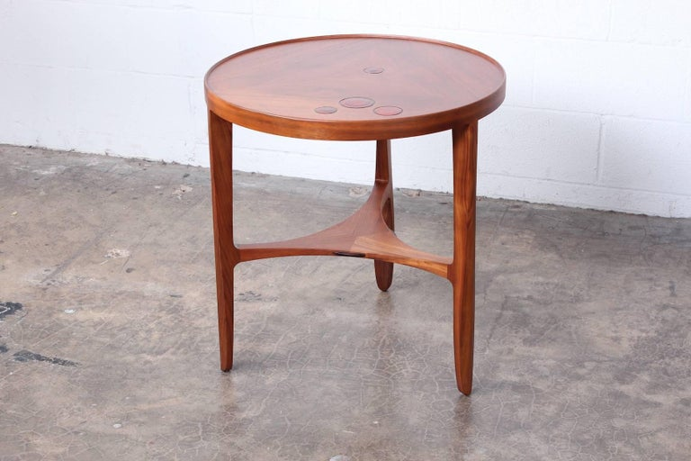Dunbar Janus Table by Edward Wormley with Natzler Tiles For Sale 10