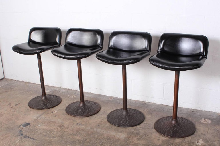 Set of Four Caribe Barstools by Ilmari Tapiovaara In Good Condition For Sale In Dallas, TX
