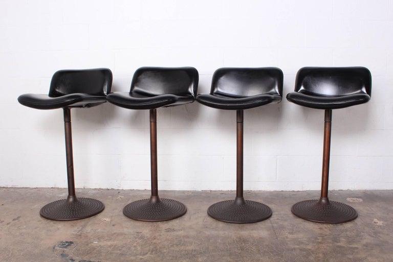 Set of Four Caribe Barstools by Ilmari Tapiovaara For Sale 2