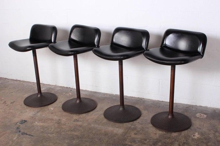 Set of Four Caribe Barstools by Ilmari Tapiovaara For Sale 3