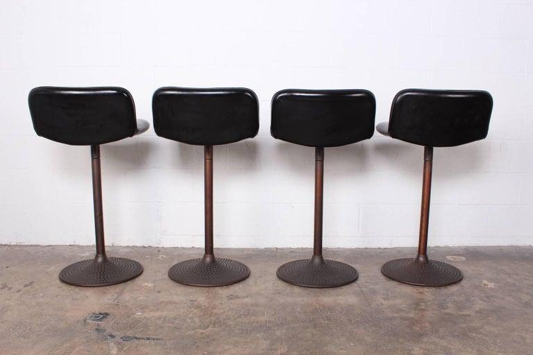 Set of Four Caribe Barstools by Ilmari Tapiovaara For Sale 4