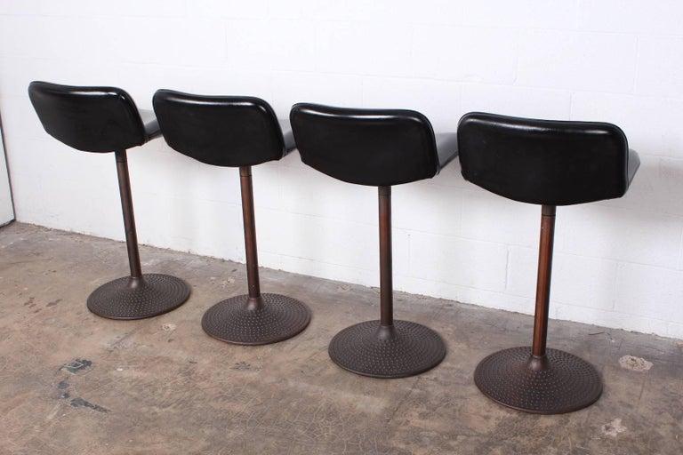Set of Four Caribe Barstools by Ilmari Tapiovaara For Sale 5